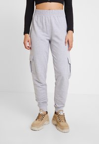 Missguided - UTILITY POCKET HIGH WAISTED JOGGERS - Pantalones deportivos - grey - 2