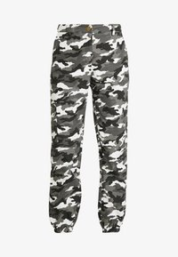Missguided - HIGH WAISTED CAMO TROUSERS - Pantaloni cargo - grey - 4