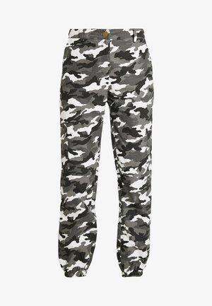 HIGH WAISTED CAMO TROUSERS - Pantalon cargo - grey