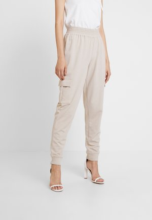 UTILITY POCKET HIGH WAISTED - Pantalones deportivos - nude