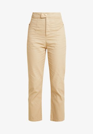 HIGH WAISTED TROUSERS - Trousers - beige
