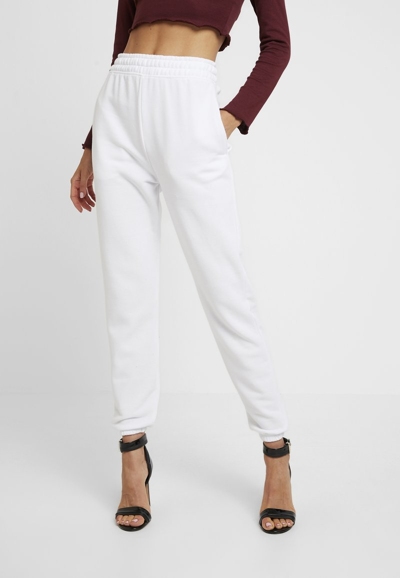 Missguided - 2 PACK BASIC JOGGER - Tracksuit bottoms - white/black
