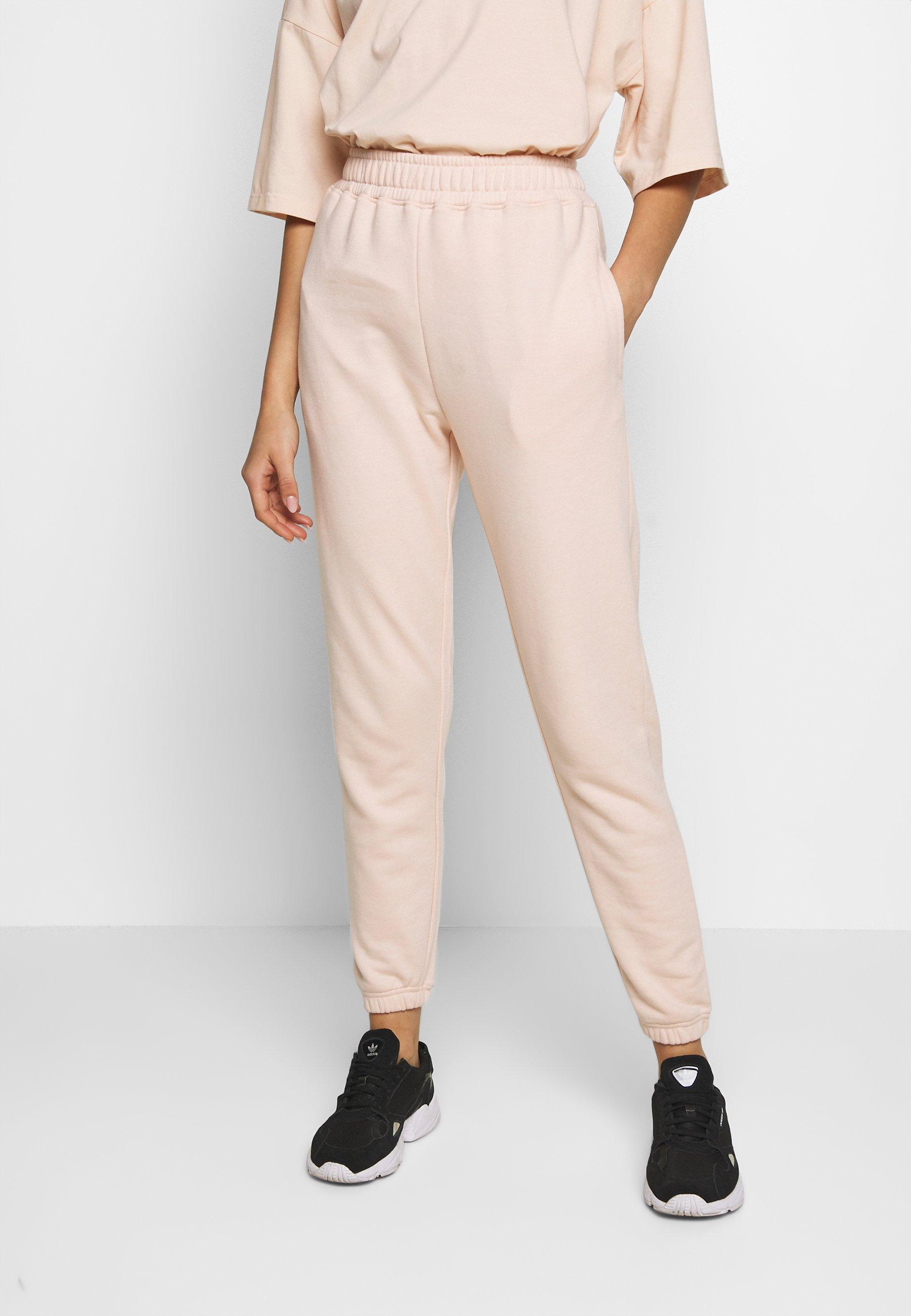 Missguided 2 PACK BASIC JOGGER - Spodnie treningowe - pink/grey