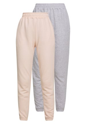 2 PACK BASIC JOGGER - Trainingsbroek - pink/grey
