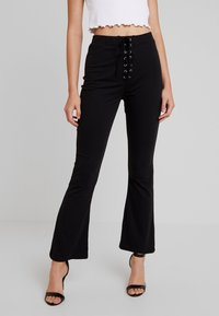 Missguided - UP WAIST TROUSERS - Bukse - black - 0