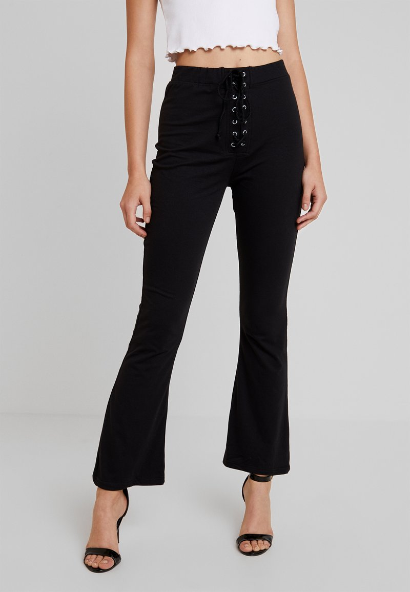 Missguided - UP WAIST TROUSERS - Trousers - black