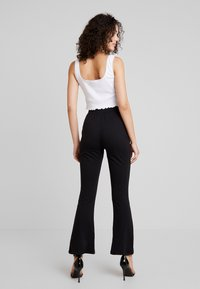 Missguided - UP WAIST TROUSERS - Bukse - black - 2