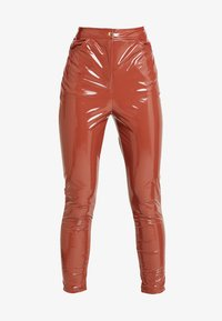 Missguided - HIGH WAISTED TROUSERS - Bukse - brown - 5