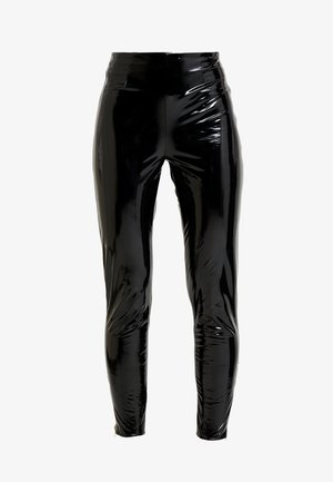 ZIP DETAIL TROUSERS - Tygbyxor - black
