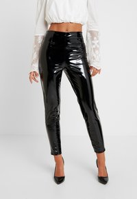 Missguided - ZIP DETAIL TROUSERS - Trousers - black - 0