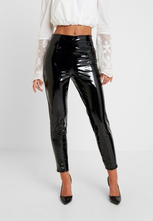 ZIP DETAIL TROUSERS - Pantalon classique - black