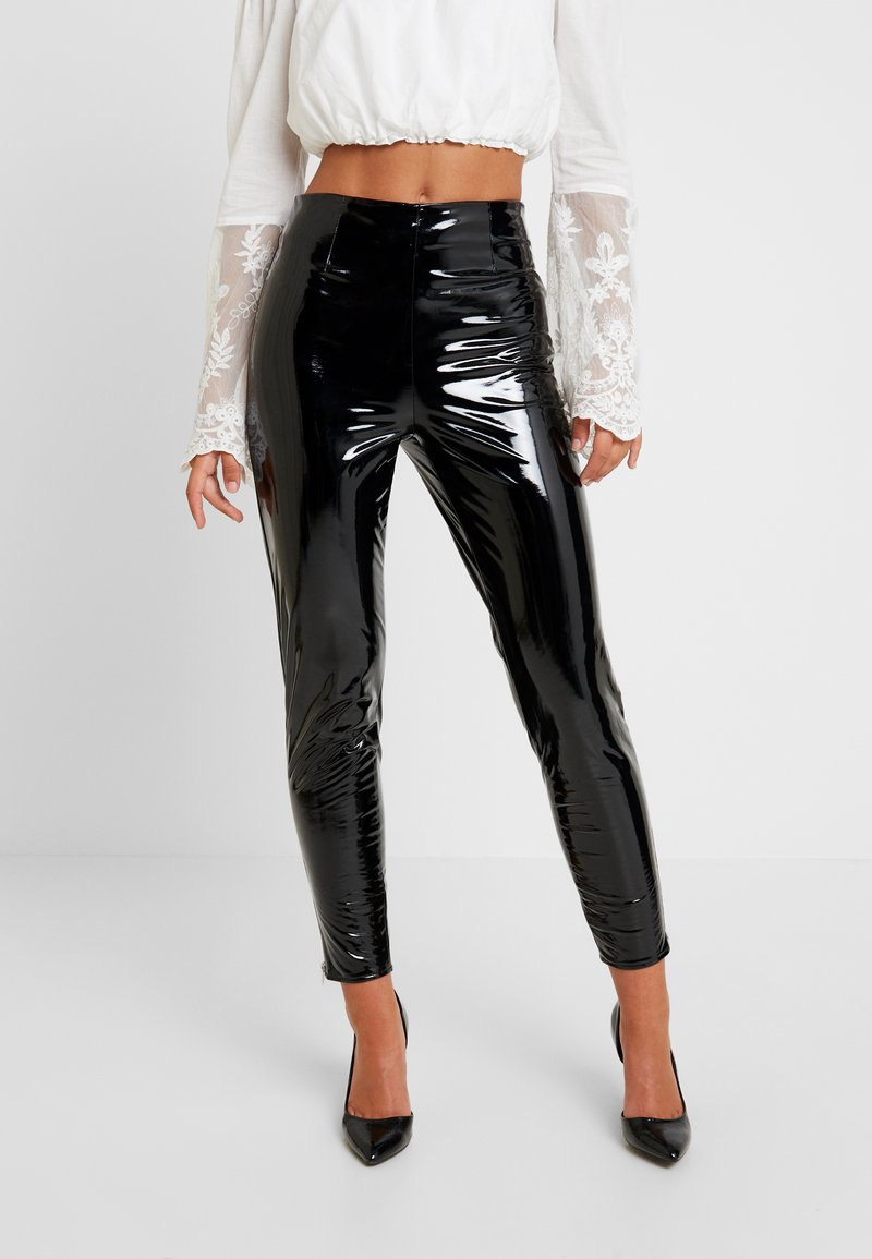 Missguided - ZIP DETAIL TROUSERS - Trousers - black