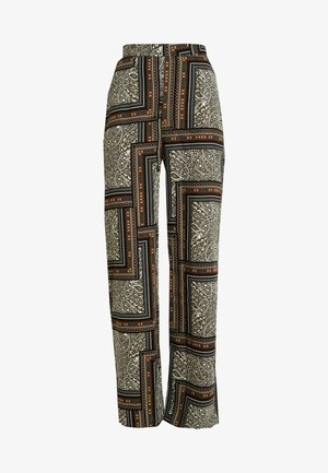 WIDE LEG PRINTED TROUSER - Stoffhose - green