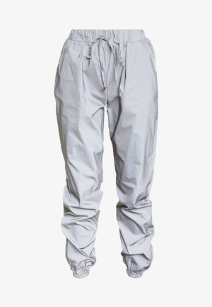 TOGGLE REFLECTIVE JOGGERS - Pantalon classique - silver