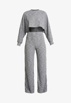 CROPPED BATWING WIDE LEG SET - Pullover - grey
