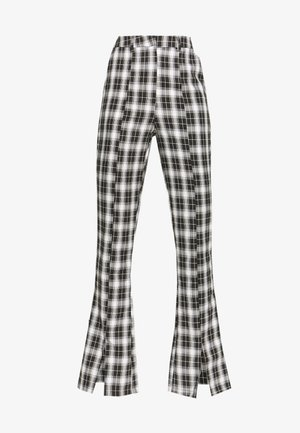 HAYDEN WILLIAMS CHECK STRAIGHT LEG TROUSER - Bukse - black