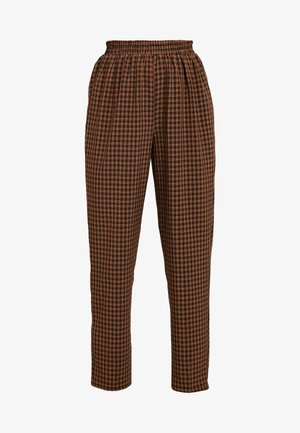 TIE WAIST SLIM LEG TROUSERS - Bukse - brown