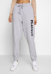 Missguided - LOUNGE - Pantalones deportivos - grey - 0