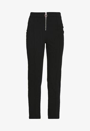 ZIP FRONT CIGARETTE TROUSER - Pantaloni - black