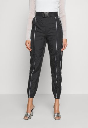 CODE CREATE JOGGERS WITH REFLECTIVE PIPING - Broek - black