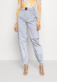 Missguided - CODE CREATEREFLECTIVE JOGGERS - Pantaloni sportivi - grey - 0