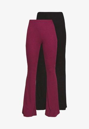 2 PACK  FLARE - Kalhoty - black/burgundy