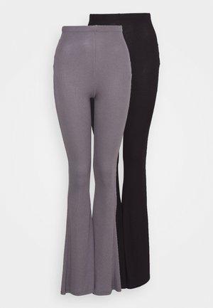 2 PACK FLARE  - Bukse - black/grey