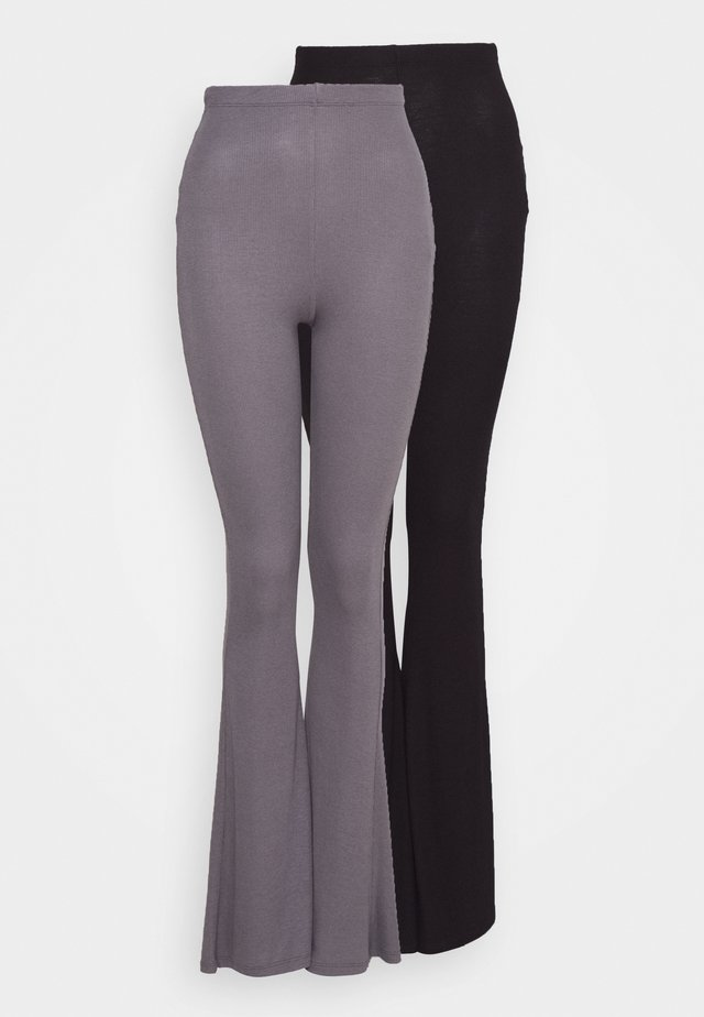 2 PACK FLARE  - Broek - black/grey