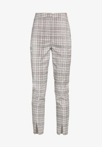 Missguided - HOUNDSTOOTH CHECK CIGARETTE TROUSER - Pantalon classique - brown - 4