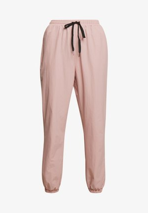 PINK CONTRAST TIE - Tracksuit bottoms - pink