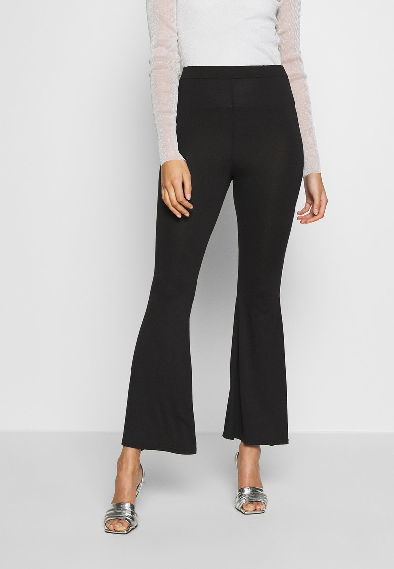 Missguided - CODE CREATE FLARE TROUSERS - Kalhoty - black