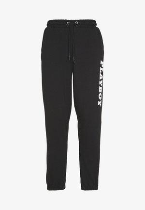 PLAYBOY LOGO OVERSIZED - Pantalones deportivos - black