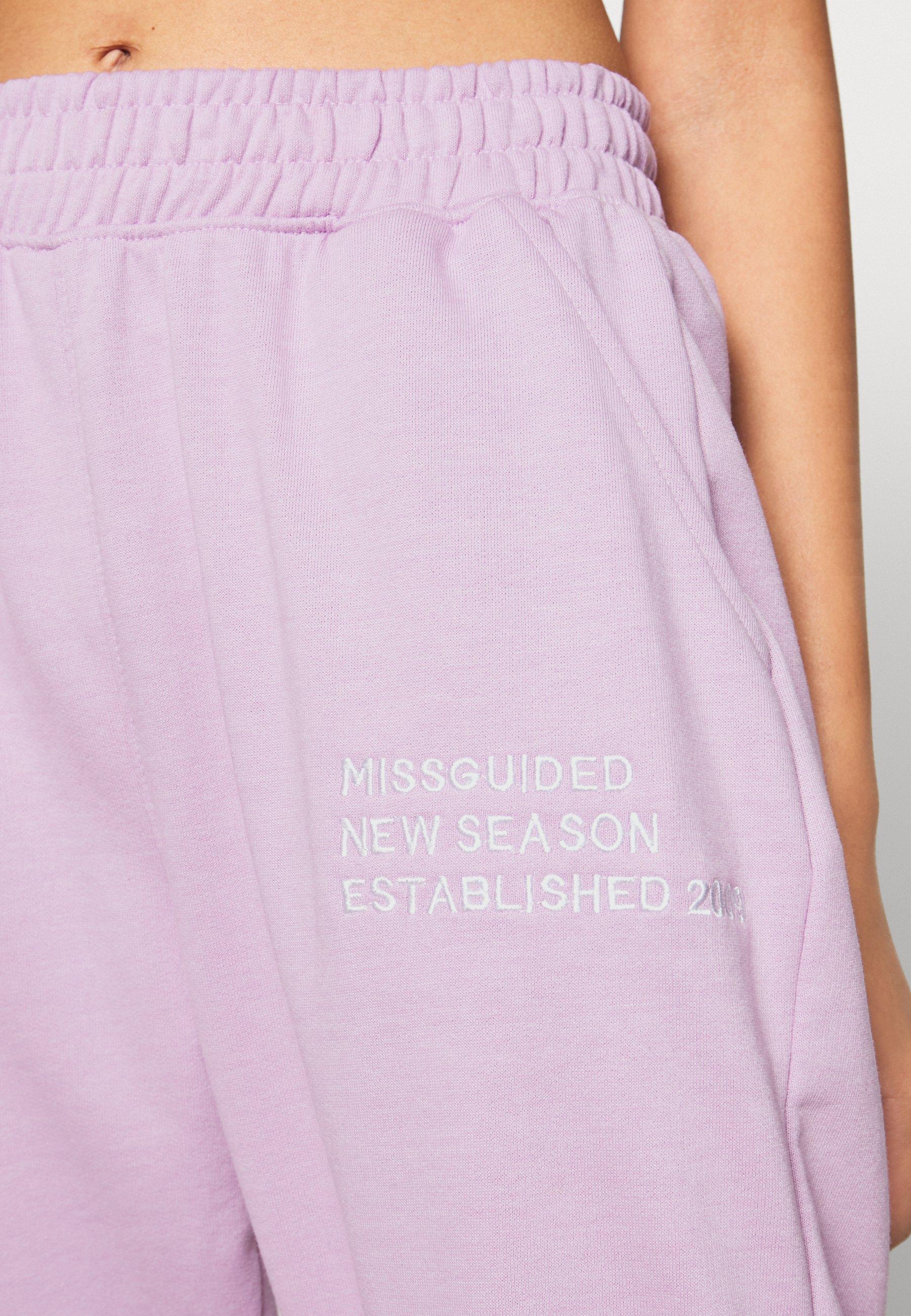 Missguided Pantaloni sportivi - lilac WfI0vwlo