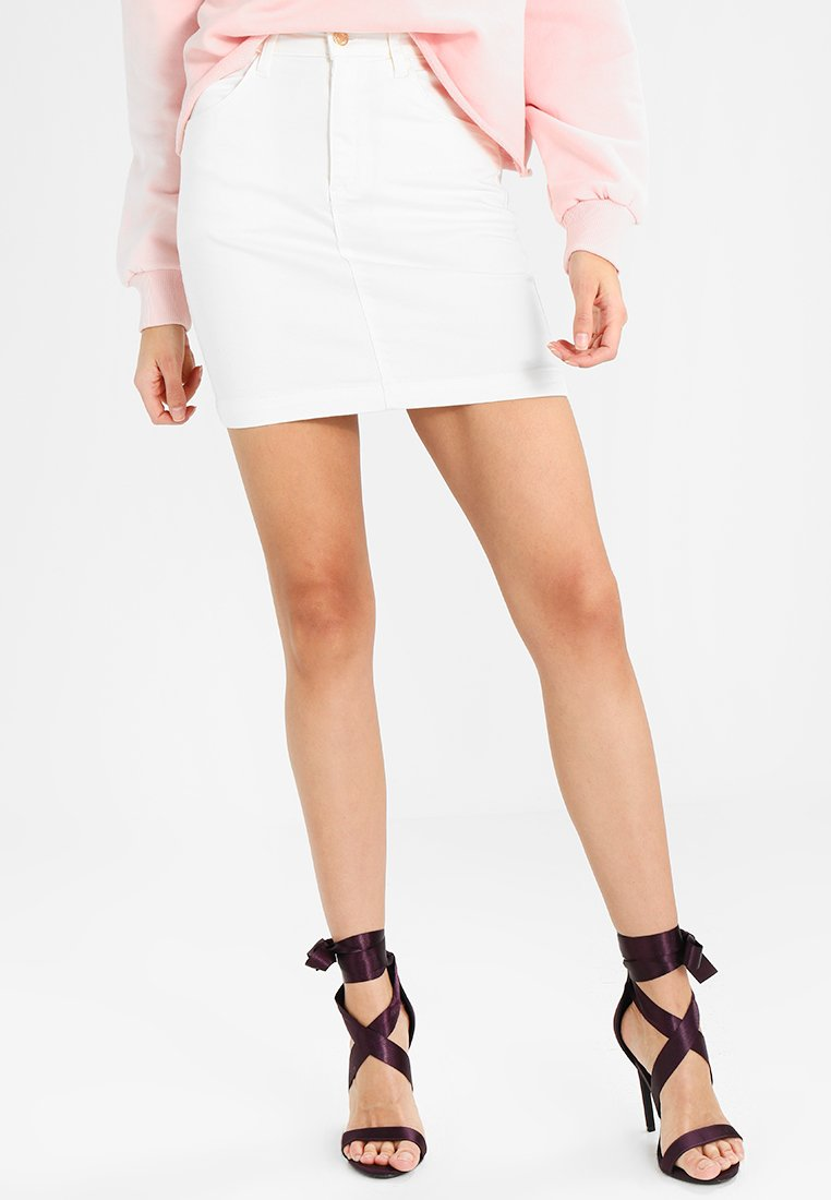 Missguided - SUPER STRETCH SKIRT - Mini skirts  - white