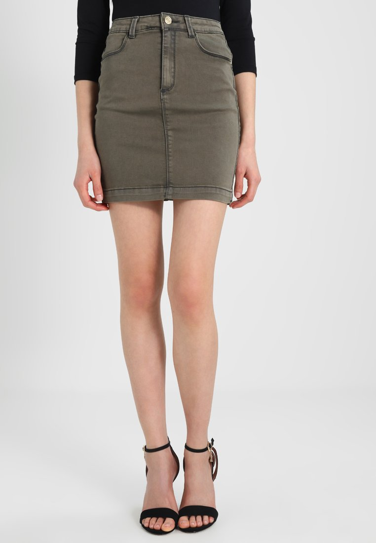 Missguided - SUPERSTRETCH SKIRT  - A-line skirt - khaki