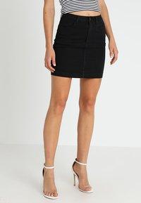 Missguided - SUPERSTRETCH SKIRT  - A-line skirt - black - 0