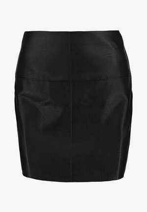 FAUX SKIRT - Bleistiftrock - black