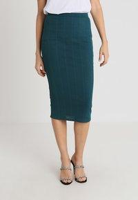 Missguided - PENCIL SKIRT - Pencil skirt - teal - 0