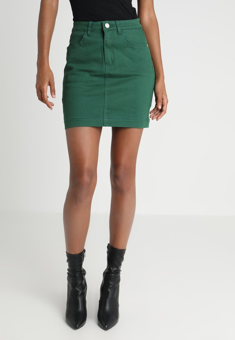 Missguided - SUPERSTRETCH SKIRT  - Jupe en jean - green