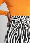 Missguided - ANIMALZEBRA FRILLED BELTED SKIRT  - Maxi skirt - white
