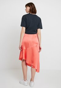 Missguided - ASYMMETRIC SKIRT - A-line skirt - coral - 2