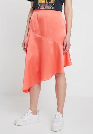ASYMMETRIC SKIRT - A-line skirt - coral
