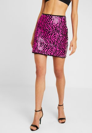 2 WAY ZEBRA SEQUIN MINI SKIRT - Mini skirt - multi-coloured