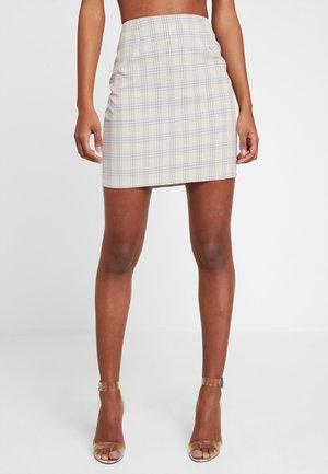 SKIRT - Mini skirt - beige