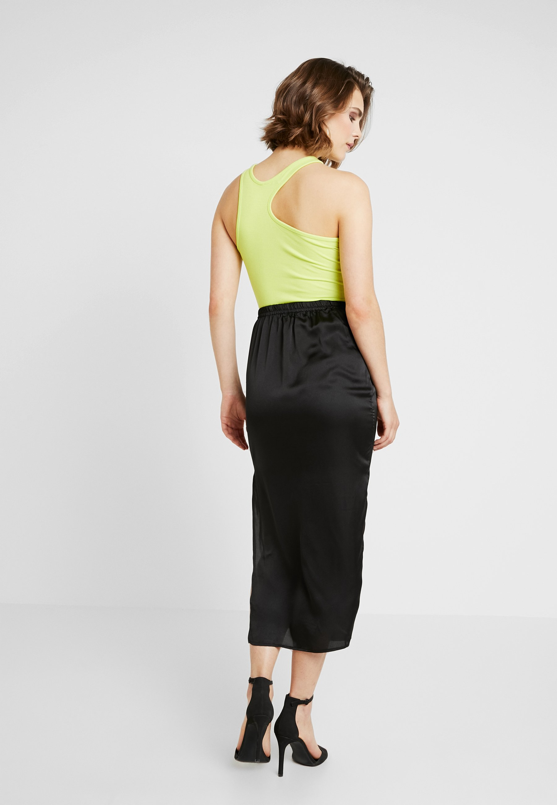Black Midi Slip Missguided SkirtJupe Crayon zMqUVSp