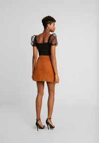 Missguided - BUTTON THROUGH SKIRT - A-Linien-Rock - rust - 2