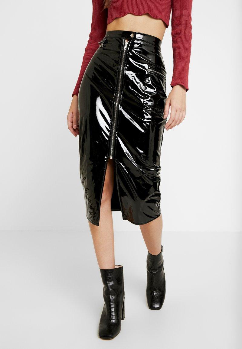 Missguided - Pouzdrová sukně - black