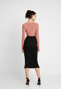 Missguided - MIDAXI SKIRT - Maxiskjørt - black - 2