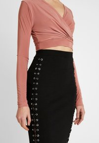 Missguided - MIDAXI SKIRT - Maxiskjørt - black - 4