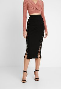 Missguided - MIDAXI SKIRT - Maxiskjørt - black - 0
